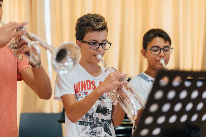 Presentación: profesores del curso de trompeta 2018