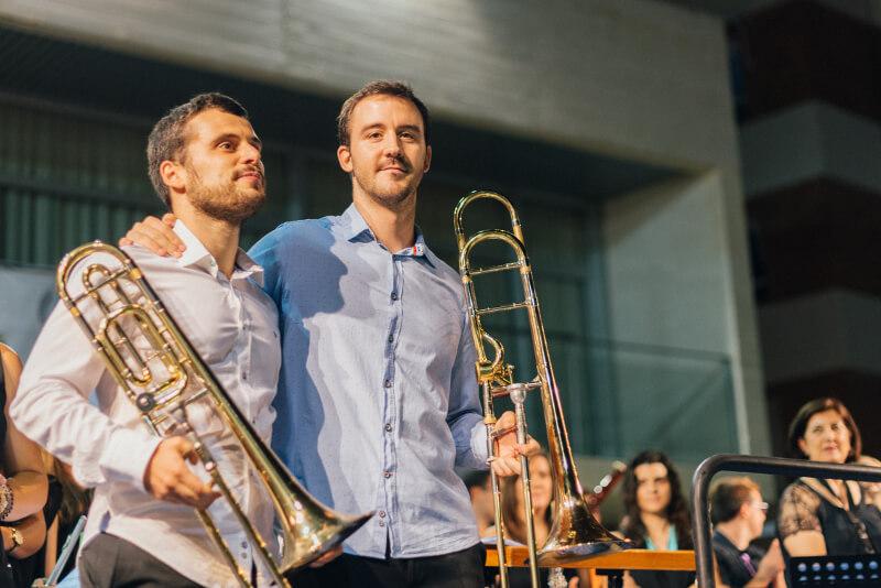 Ricardo Mollá y Juan Sanjuán, trombonistas