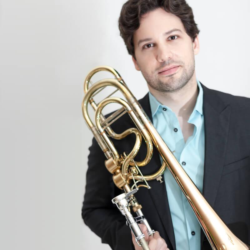 Zachary Bond, bass trombone player